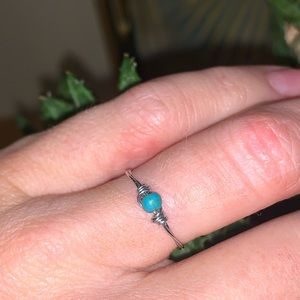 Jewelry - Dainty turquoise wire wrapped ring